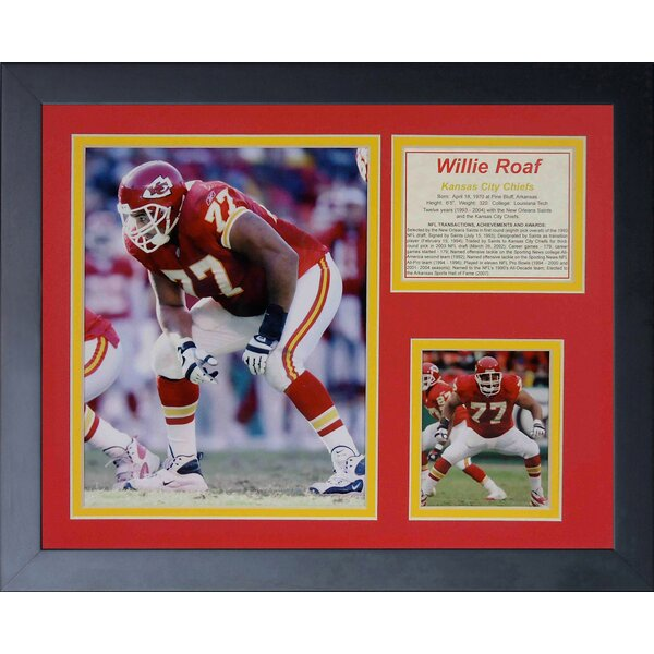 Willie Roaf Framed Photographic Print by Legends Never Die