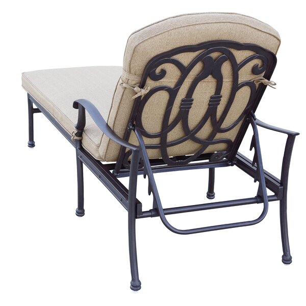 Dolby Reclining Chaise Lounge with Cushion by Astoria Grand Astoria Grand