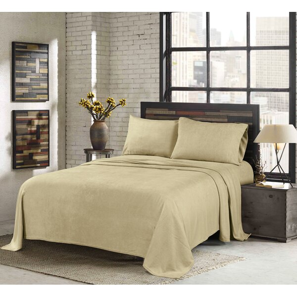 Sunbeam Super Soft Heavy Weight Fleece Microfiber Sheet Set by Sunbeam