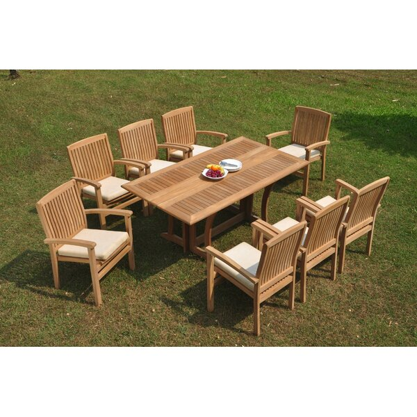 Ringold 9 Piece Teak Dining Set By Rosecliff Heights