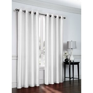 Solid Sheer Grommet Curtain Panels (Set of 2)