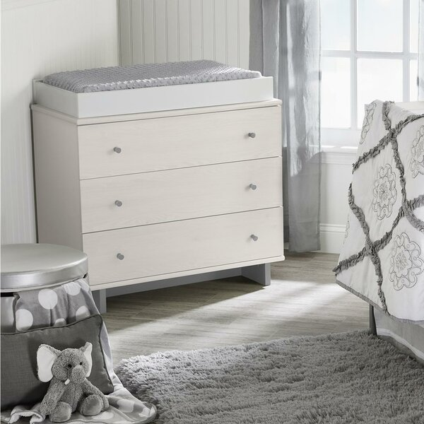 Maple Lane Dove 3 Drawer Changing Dresser by Little Seeds