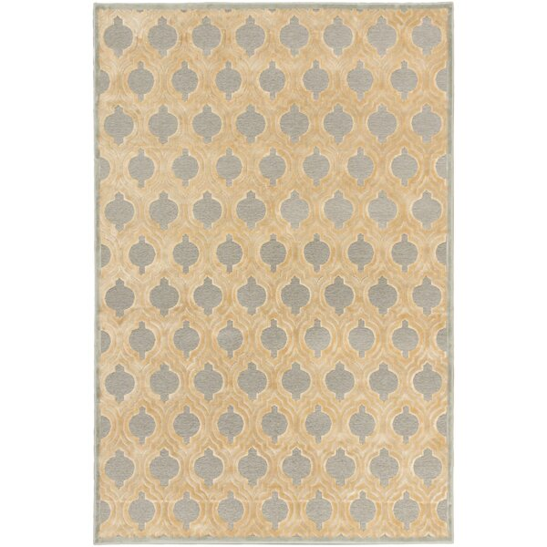 Sherron Ivory/Light Gray Area Rug by Everly Quinn
