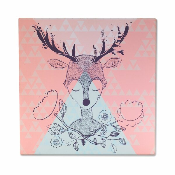 Sparrow Deer Head Canvas Art by Lolli Living