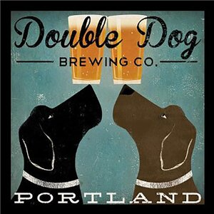 'Double Dog Brewing Company Portland' by Ryan Fowler Framed Vintage Advertisement by Winston Porter