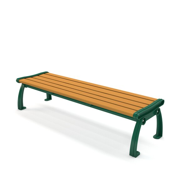Heritage Backless Recycled Plastic Park Bench by Frog Furnishings