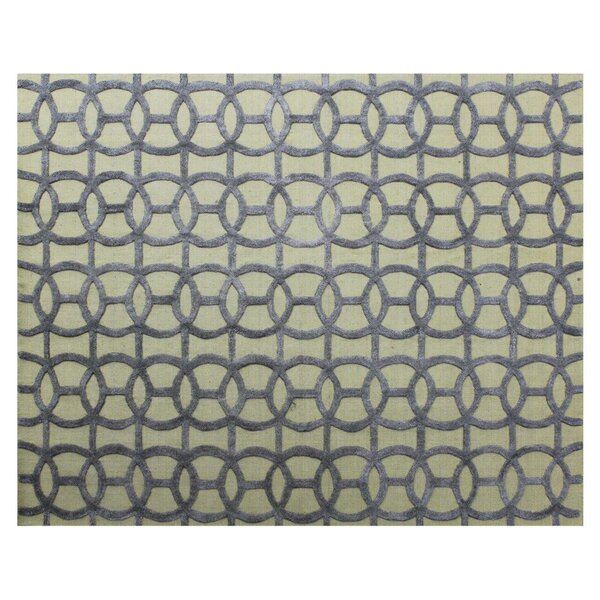Windsor Hand-Woven Wool Blue/Beige Area Rug by Exquisite Rugs