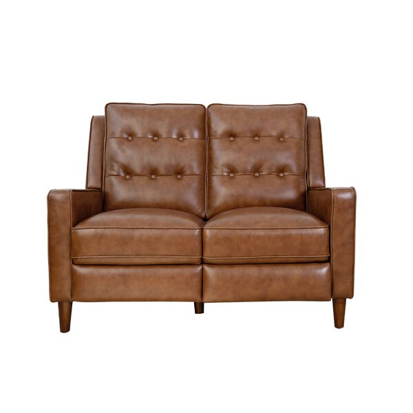 Groff Genuine Leather Reclining 52