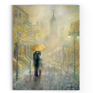 'City Romance I' Painting Print on Wrapped Canvas by Red Barrel Studio