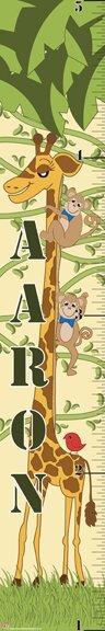 Giraffe Boy Growth Chart by Mona Melisa Designs