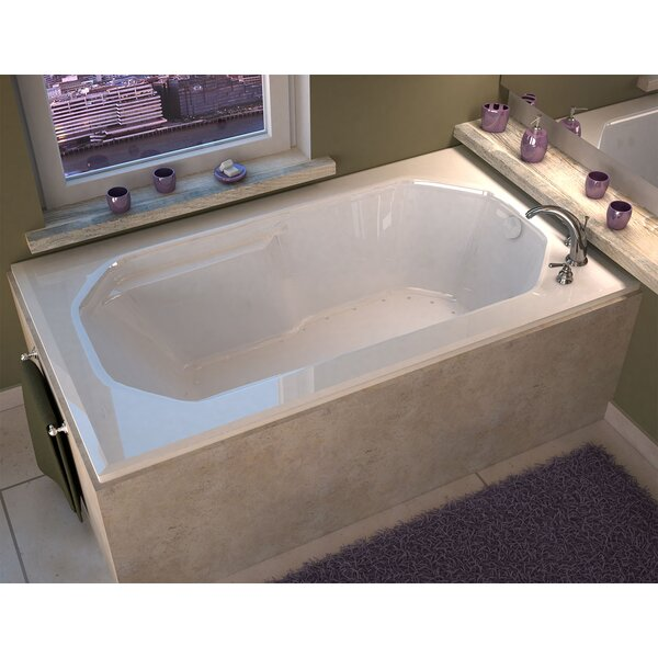 Montserrat 59.75 x 35.5 Rectangular Air Jetted Bathtub with Drain by Spa Escapes