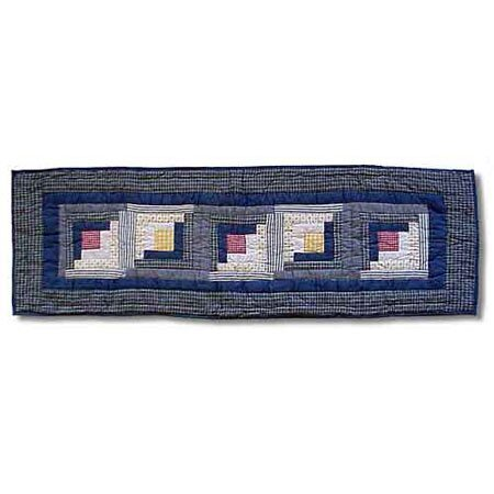 Sail Log Cabin Table Runner by Patch Magic