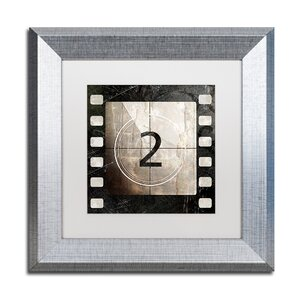 'Vintage Countdown II' Framed Graphic Art by Trademark Fine Art