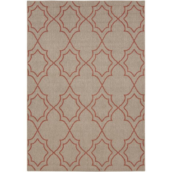 Amato Beige/Red Indoor/Outdoor Area Rug by Alcott Hill