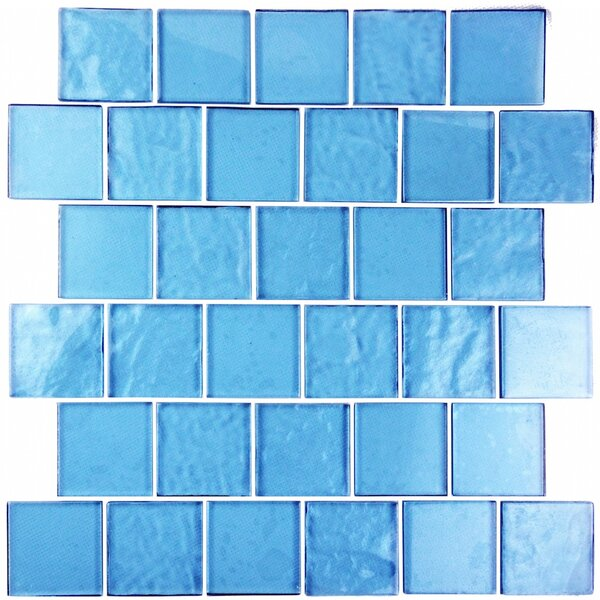 Landscape 2 x 2 Glass Mosaic Tile in Sky Blue by Abolos
