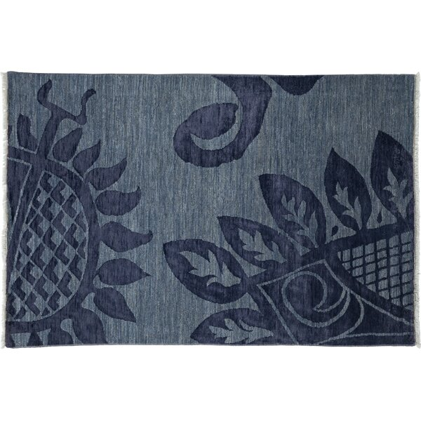 One-of-a-Kind Shalimar Hand-Knotted Blue Area Rug by Darya Rugs