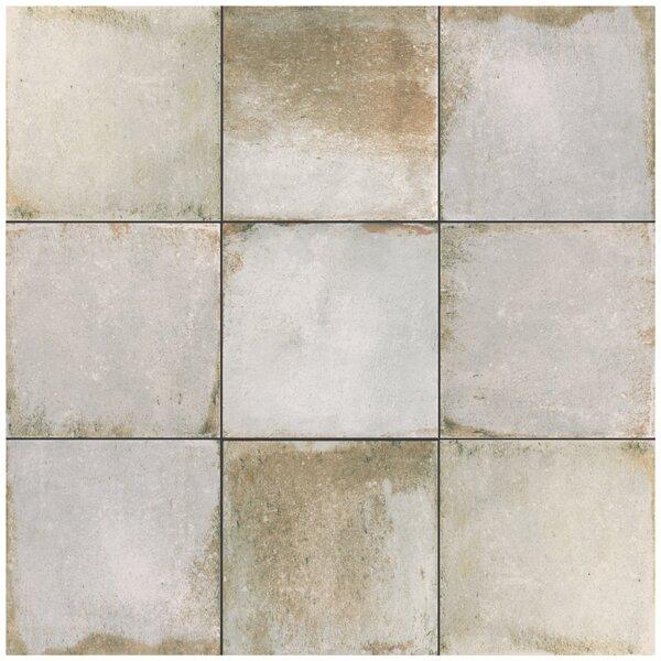 Relic 8.75 x 8.75 Porcelain Field Tile in Bianco by EliteTile