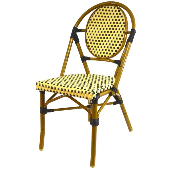 French Stacking Patio Dining Chair (Set of 6) by Infinita Corporation Infinita Corporation