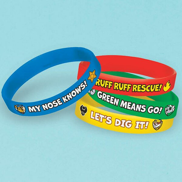 24 Piece Paw Patrol Rubber Disposable Bracelet Favors Set [NA]