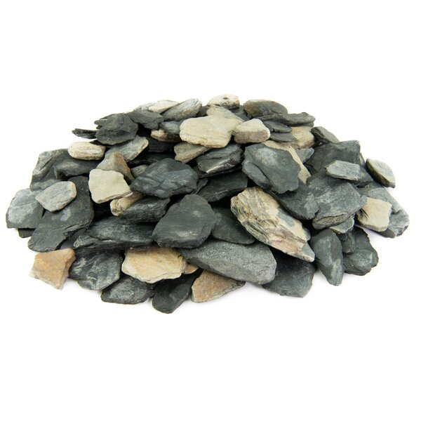Slate Chips Landscape Edging by Fire Pit Essentials
