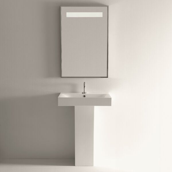 Cento Ceramic 34.4 Pedestal Bathroom Sink with Overflow by WS Bath Collections