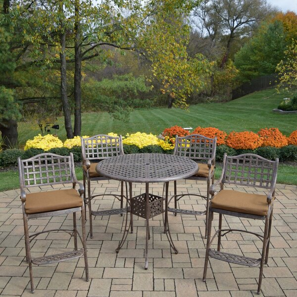 Braddock 5 Piece Bar Height Dining Set by Fleur De Lis Living