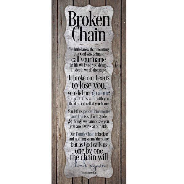Broken Chain New Horizons Textual Art Wood Plaque by Dexsa