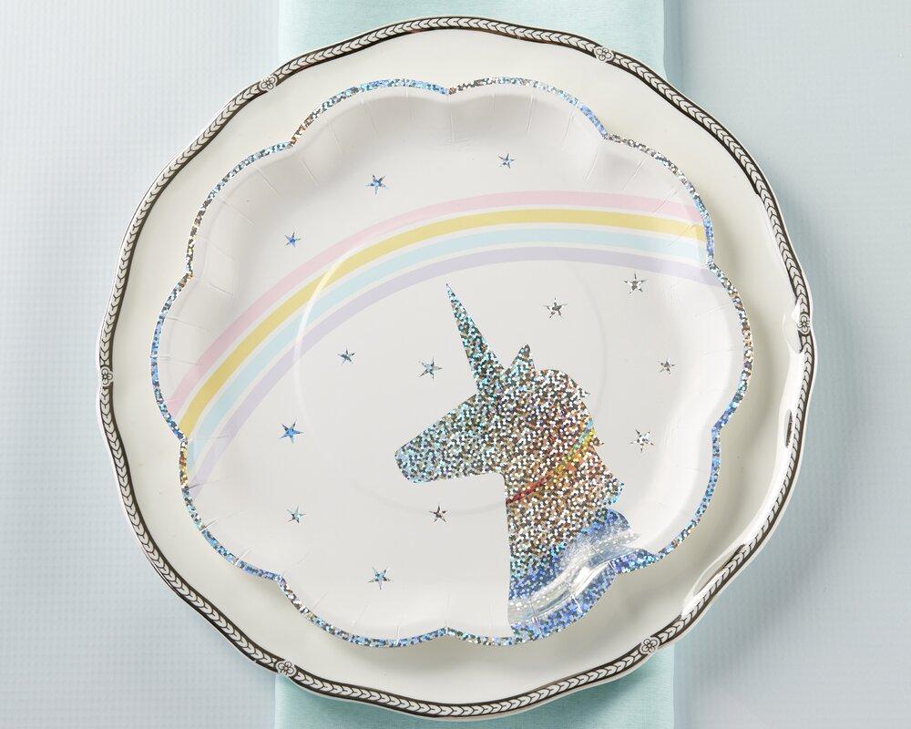 Enchanted Unicorn Paper Plates  sc 1 st  Wayfair & Kate Aspen Enchanted Unicorn Paper Plates \u0026 Reviews | Wayfair