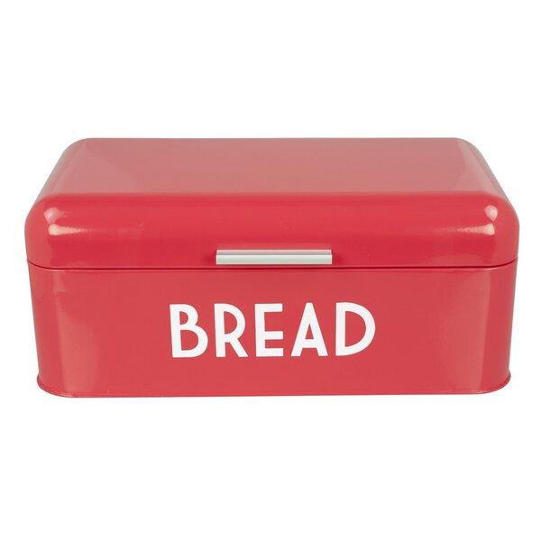 Akkaya Retro Design Powder Coated Steel Bread Box with Lid by Mint Pantry