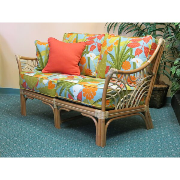 Rainey Cushion Back Loveseat by Bayou Breeze