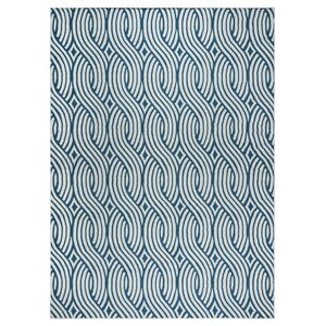Lucia Blue/Gray Indoor/Outdoor Area Rug