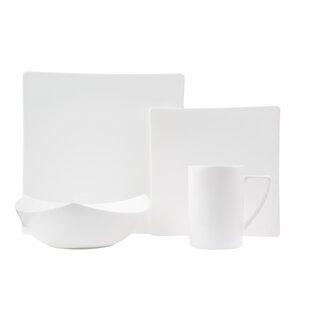 Extreme Bone China 16 Piece Dinnerware Set Service for 4  sc 1 st  Wayfair & Square Dinnerware Sets You\u0027ll Love   Wayfair