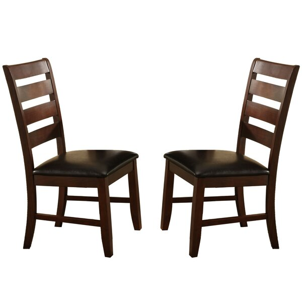 Clio Ladder Solid Wood Dining Chair (Set of 2) by Millwood Pines