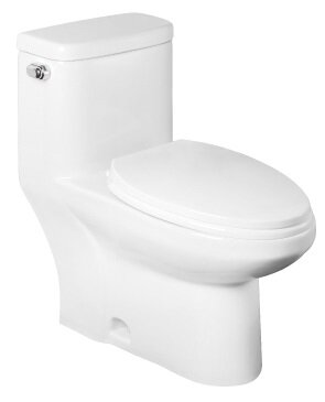 1.28 GPF Elongated One-Piece Toilet by Abolos