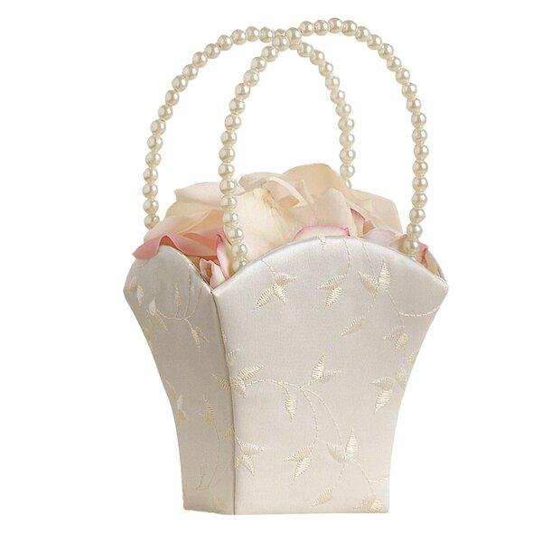 Elegant Flower Girl Basket by Lillian Rose