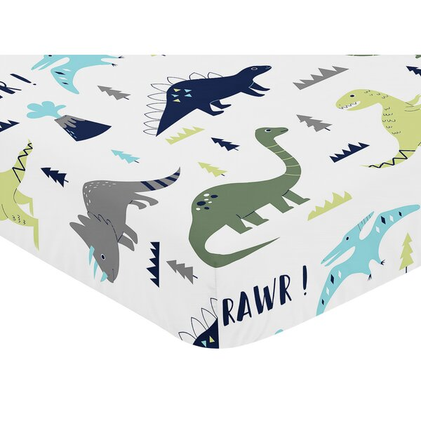 Mod Dinosaur Fitted Crib Sheet by Sweet Jojo Designs