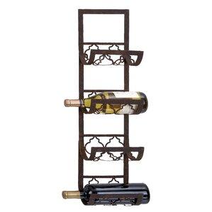 Brashears 4 Bottle Wall Mounted Wine Rack by Fleur De Lis Living