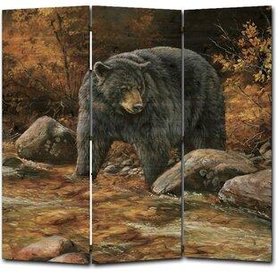 Streamside Bear 3 Panel Room Divider by WGI-GALLERY
