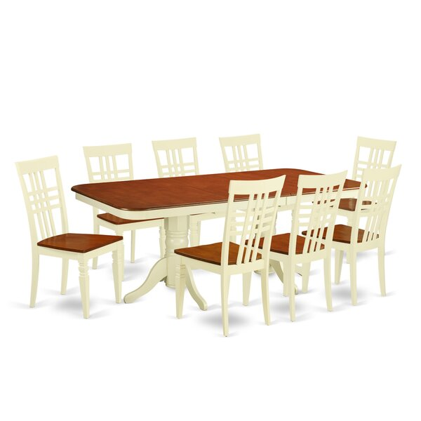 Beesley 9 Piece Buttermilk/Cherry Dining Set by Darby Home Co