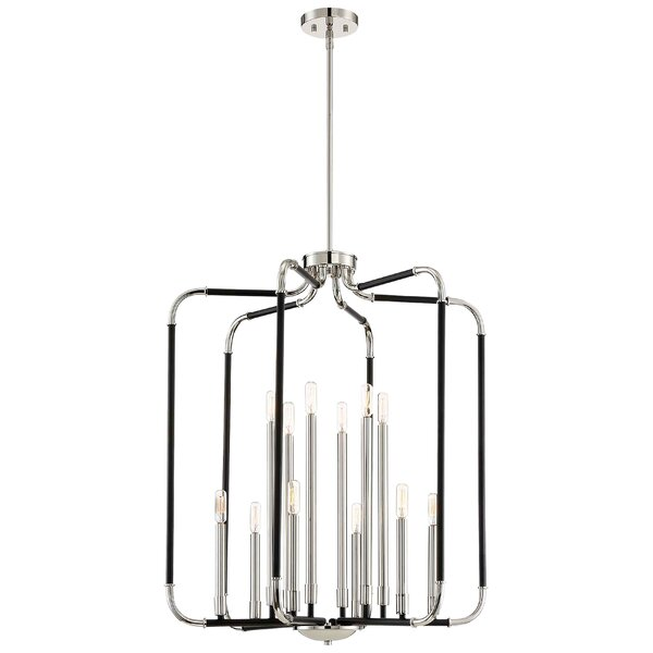 Jairo 12 - Light Lantern Square Chandelier By Langley Street™