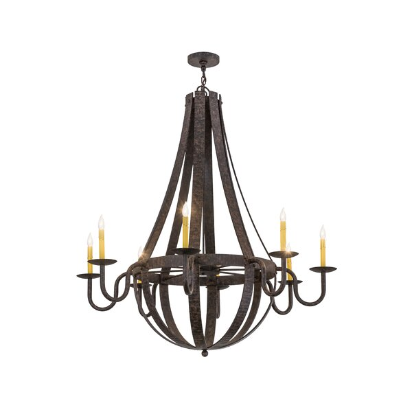 Terrio 8 - Light Candle Style Empire Chandelier by Foundry Select Foundry Select