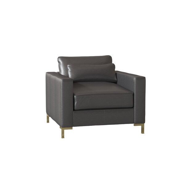 Maxine Leather Club Chair By Wayfair Custom Upholstery™