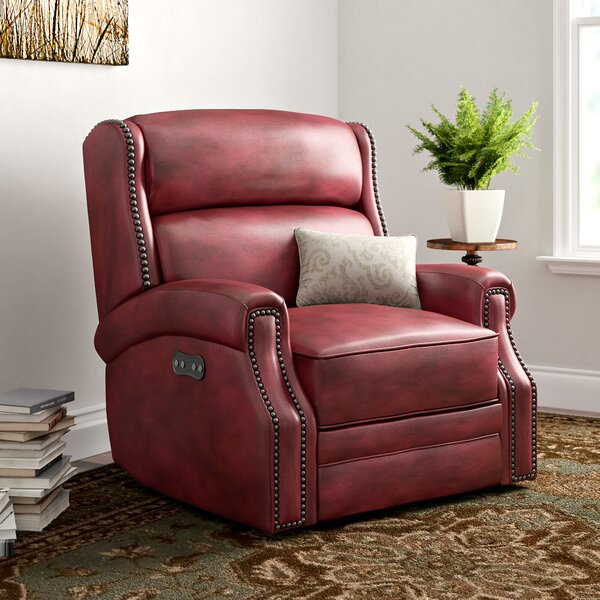Carlisle Leather Power Recliner With Power Headrest