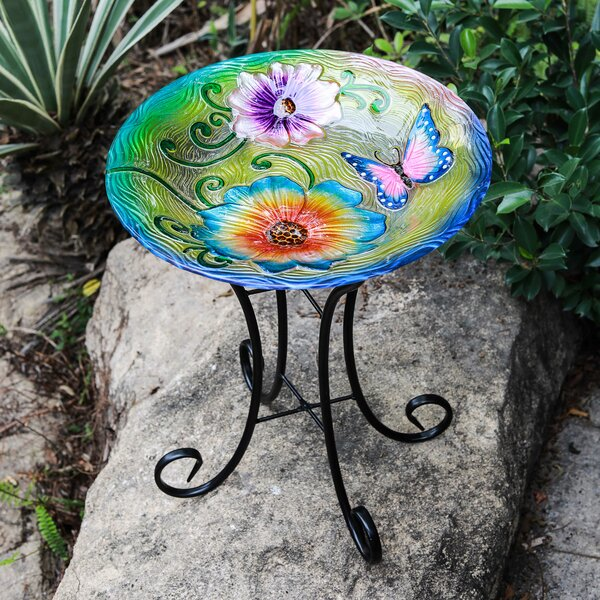 Butterfly Birdbath by Winsome House