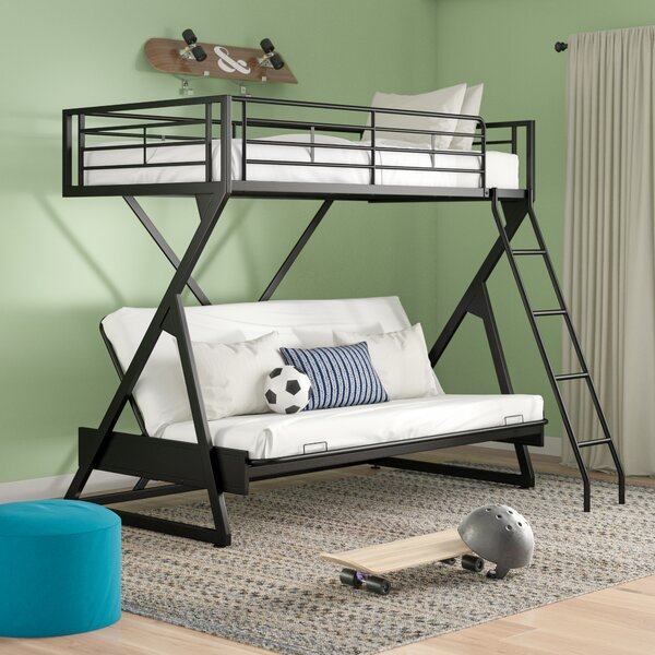 Petrey Twin Over Full Futon Bunk Bed by Zoomie Kids