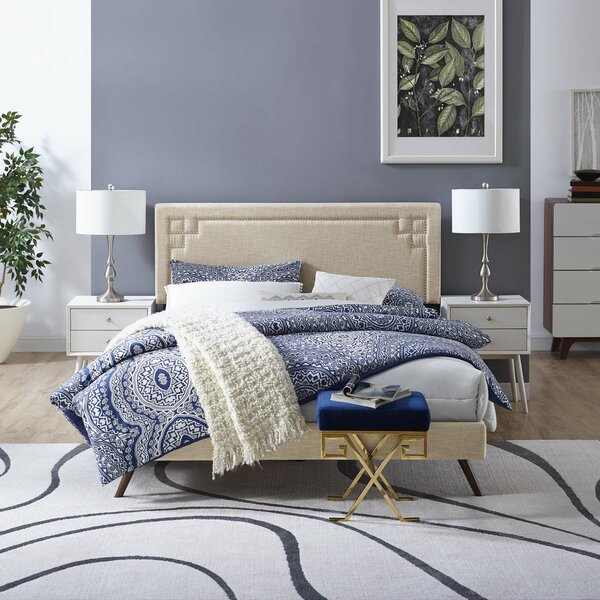 Twerton Upholstered Platform Bed by Wrought Studio