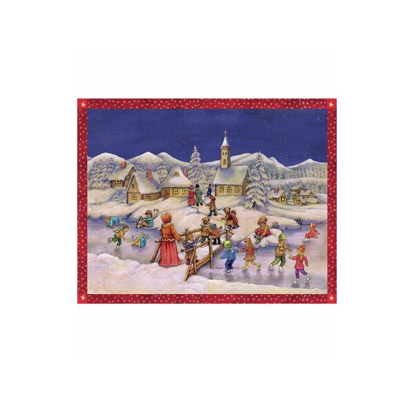 Sellmer Large Skaters Advent Calendar by The Holiday Aisle