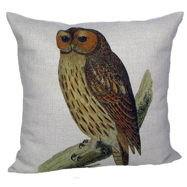 Owl Throw Pillow by Golden Hill Studio