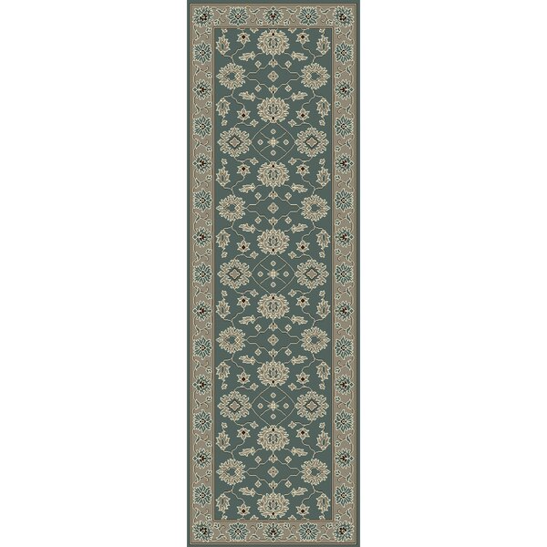Nolan Hand-Tufted Sky Blue/Cream Area Rug by Darby Home Co