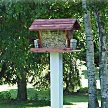 Heavy Duty Post Hopper Bird Feeder by Dura-Trel